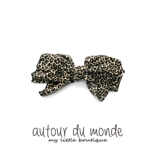 leopard ribbon hairpin