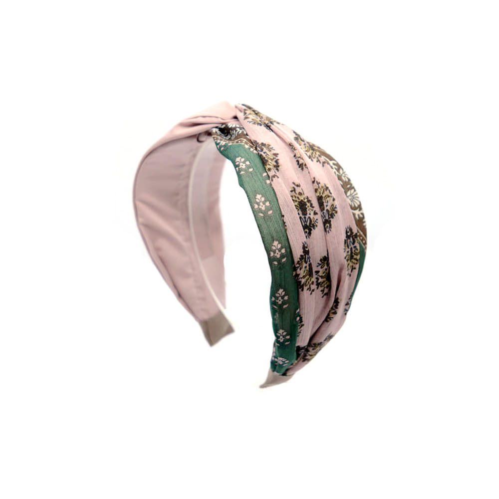 paisley point hairband (pink)