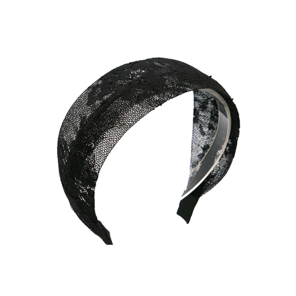 elegant lace hairband (black)