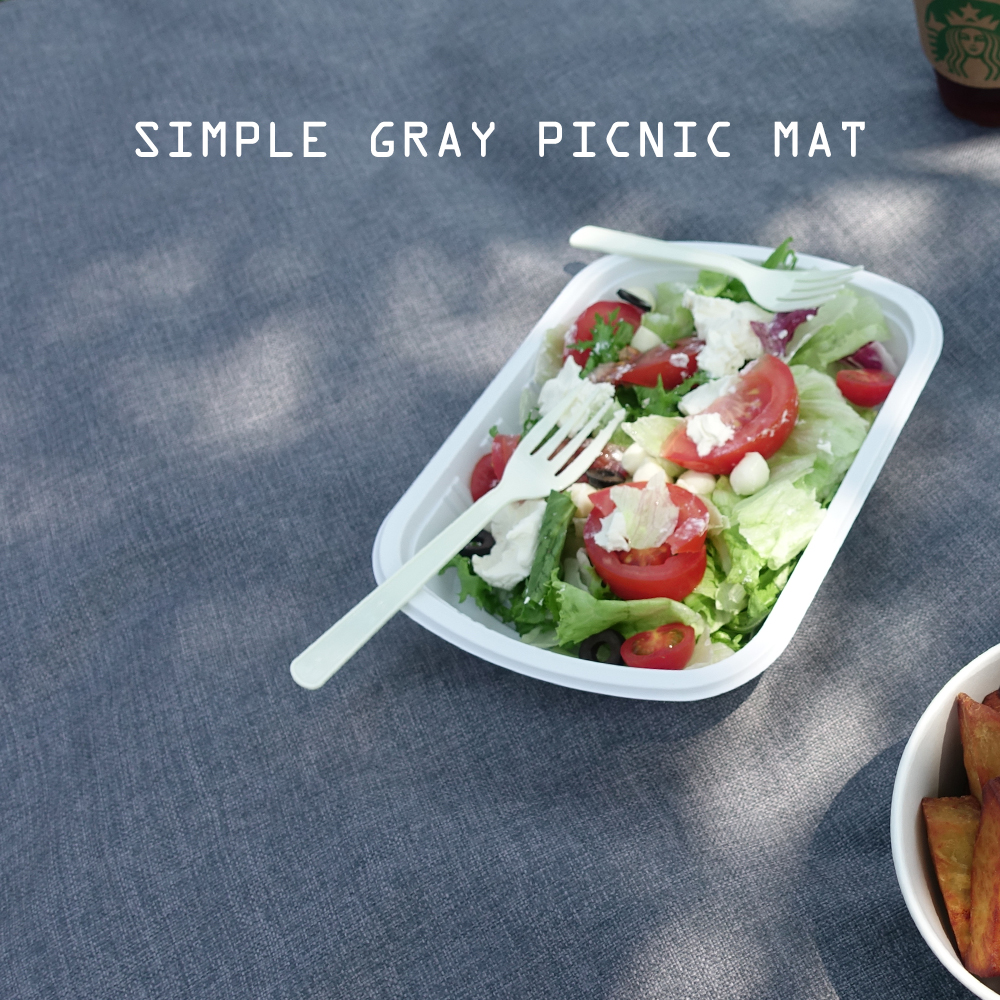 simple gray picnic mat (S/L)