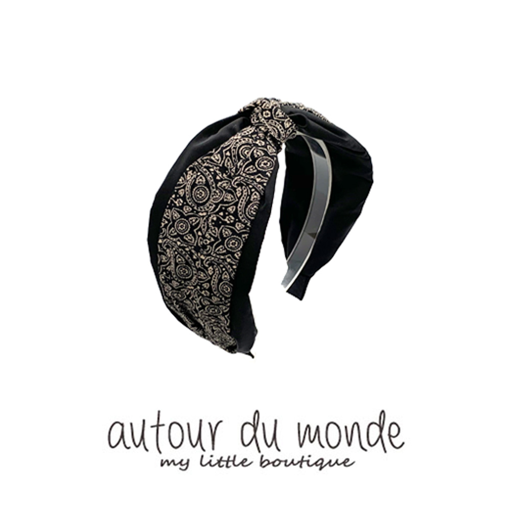 layered paisley hairband (black)