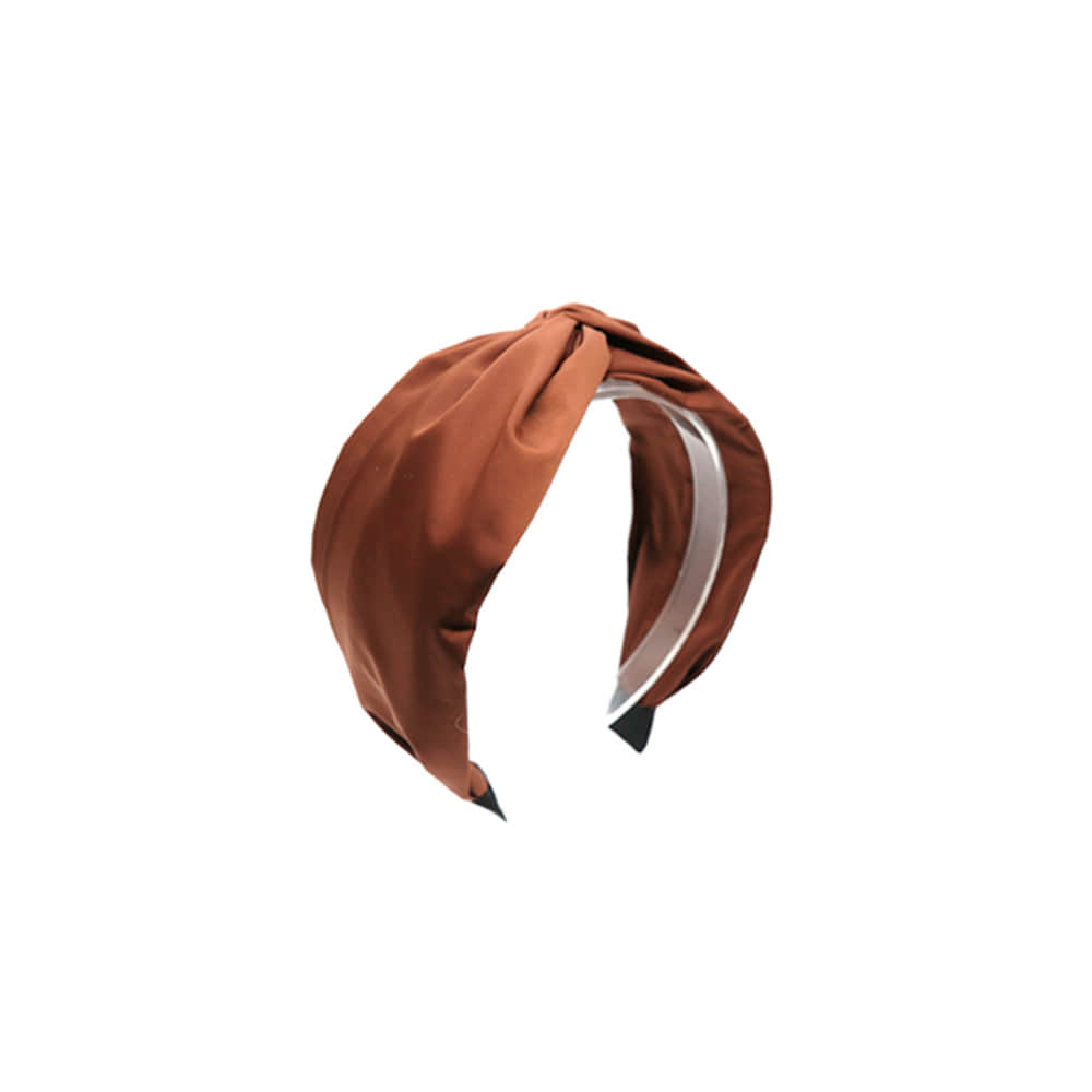 simple twist hairband (brick)