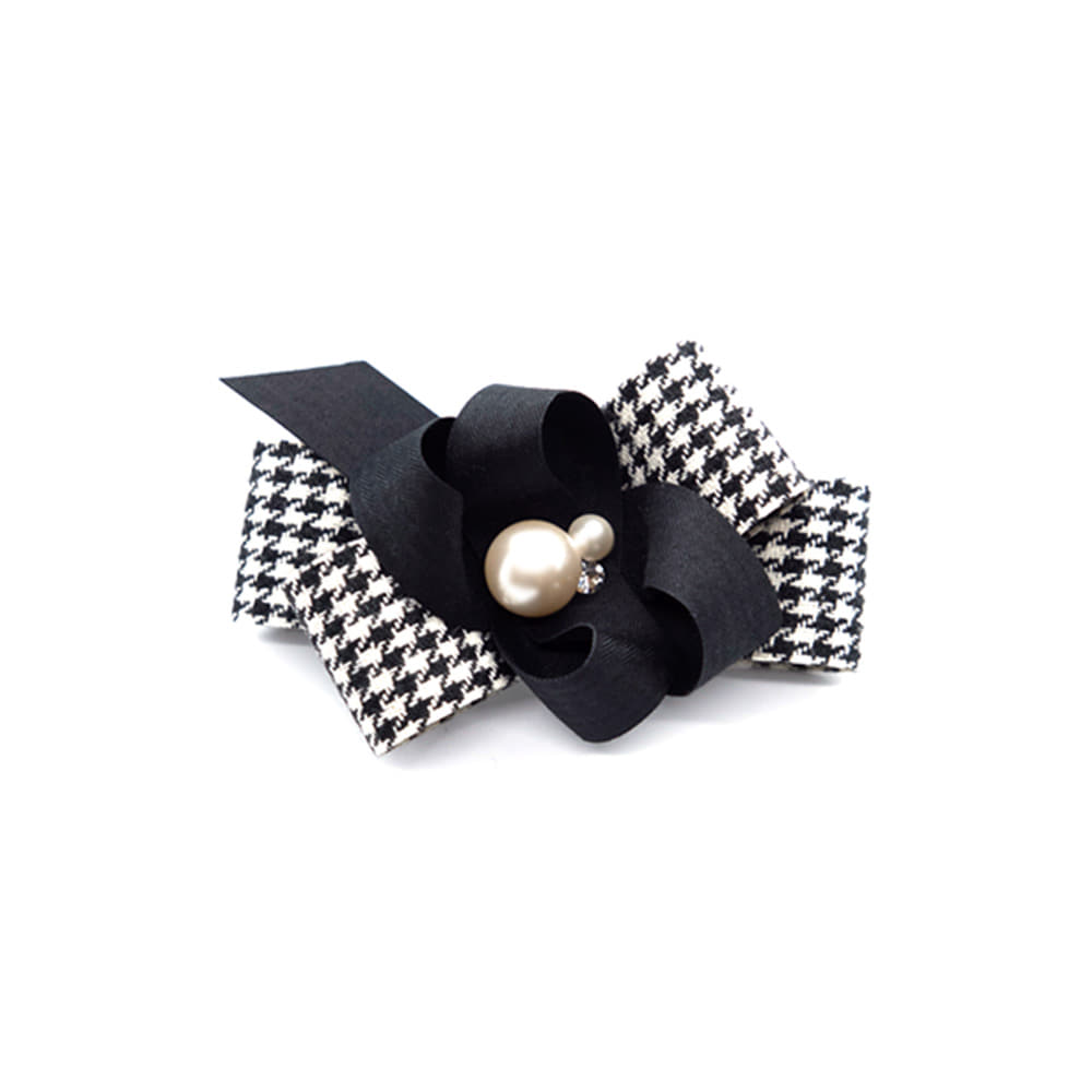 hound check hairpin (black)
