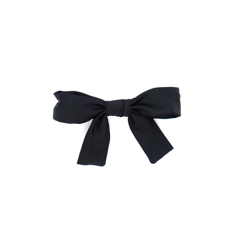 pretty ribbon hairpin (black)