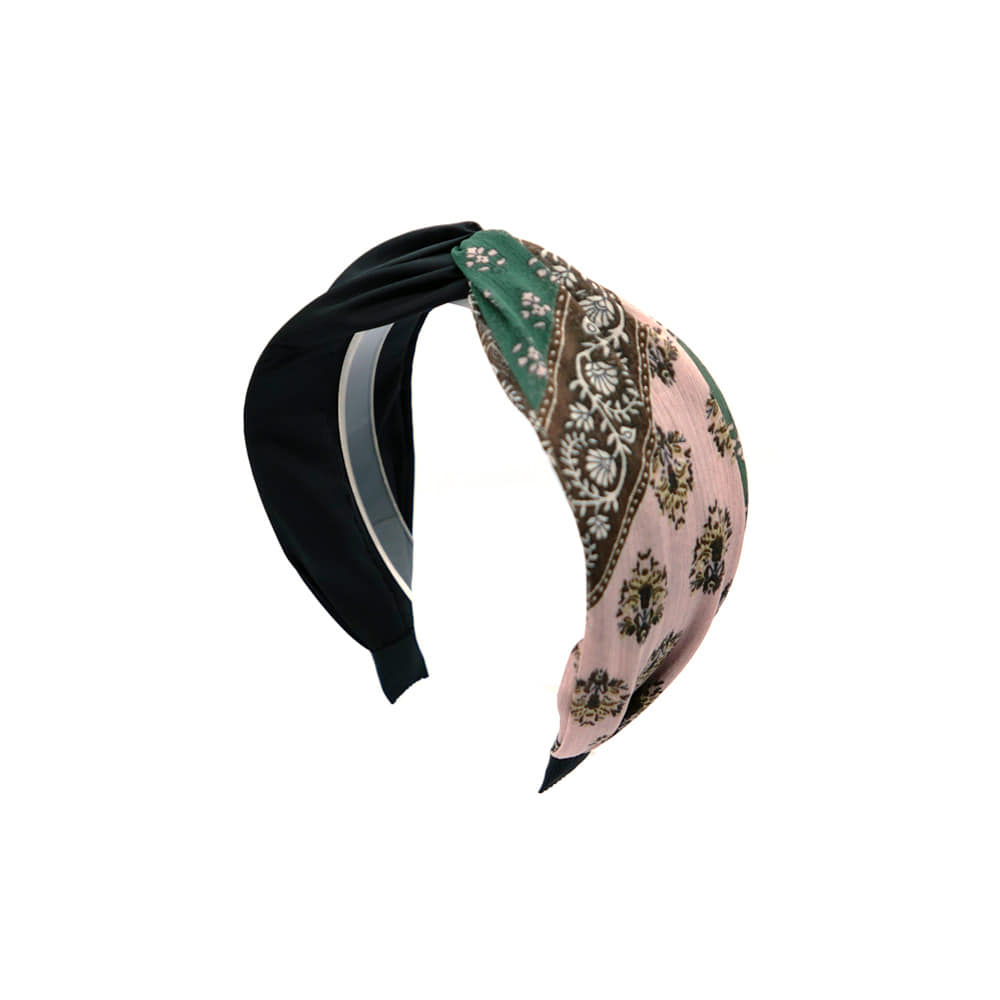 paisley point hairband (black)