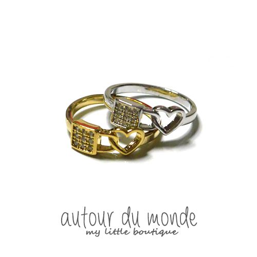 lock heart ring