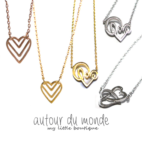 heart necklace(5type)