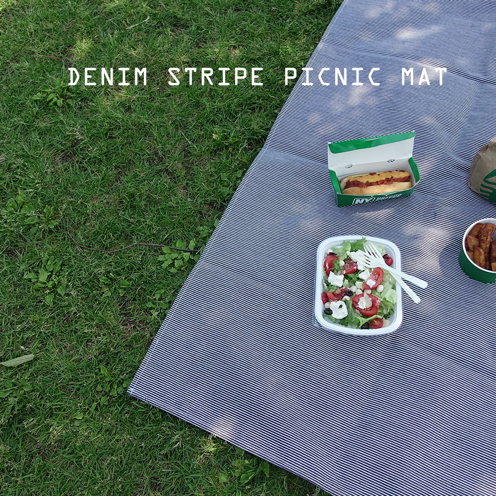 denim stripe picnic mat (S/L)
