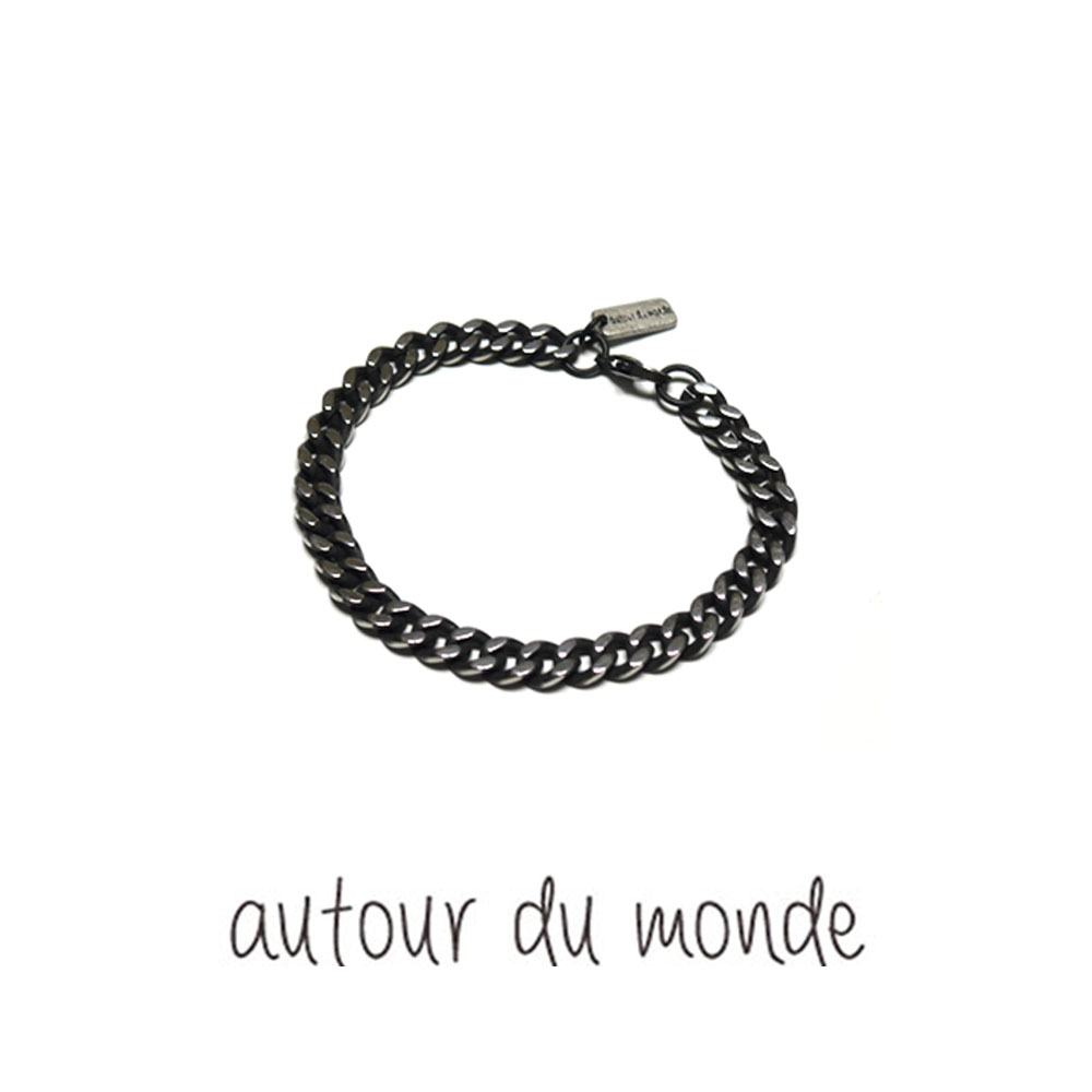 black chain men bracelet