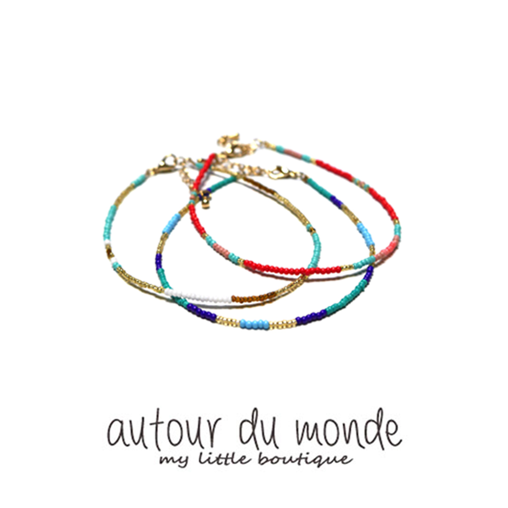 color mix anklet (3colors)