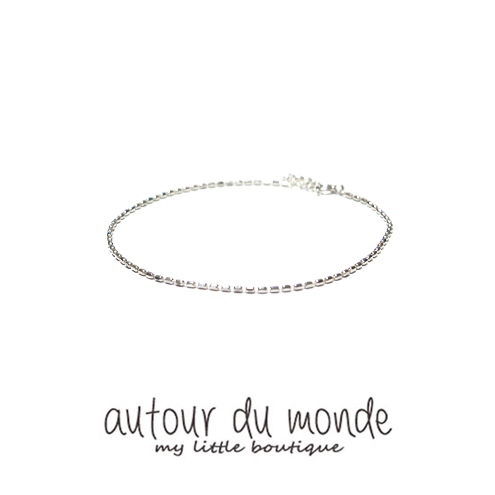 candy chain silver anklet