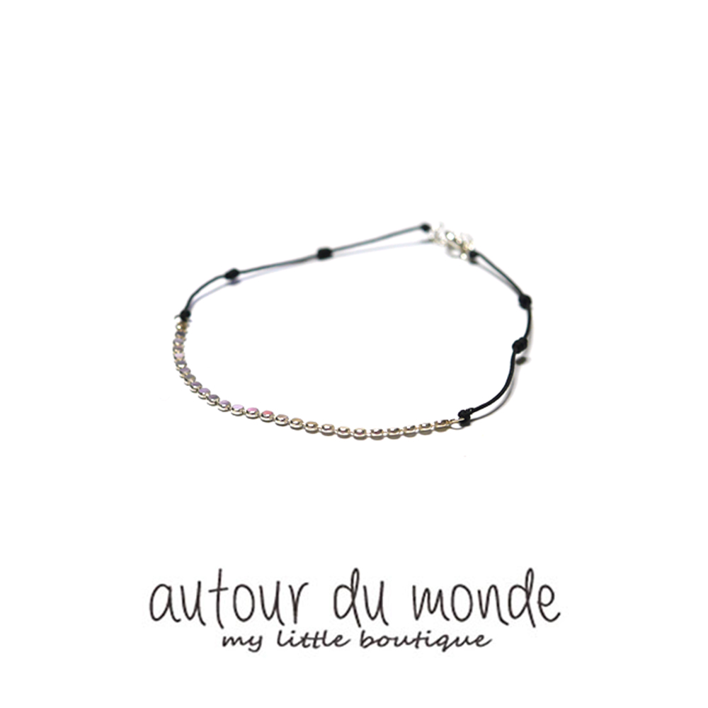 silver knot anklet