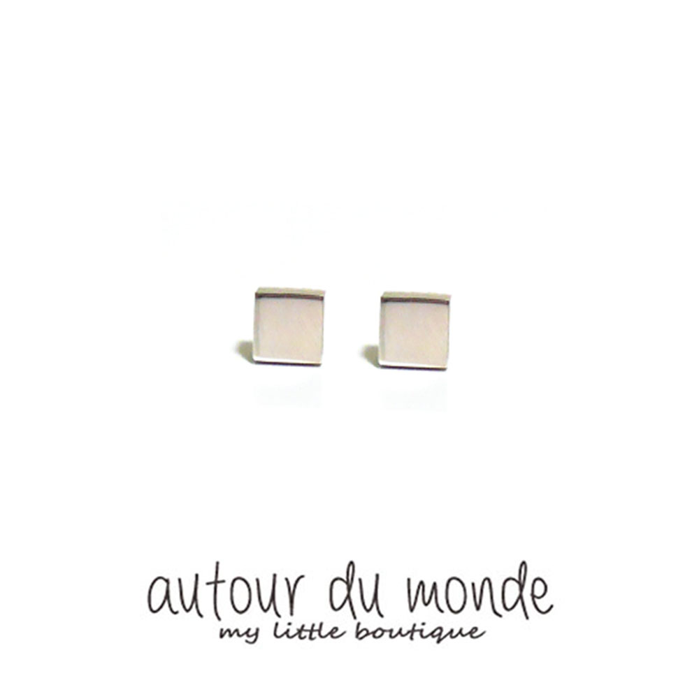 figure square earring (3colors)