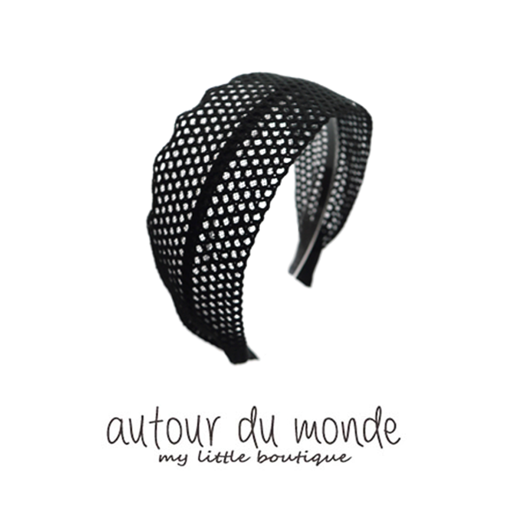 lace mesh hairband (black)